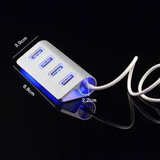 4-Port USB2.0 Multi HUB Splitter Expansion Adapter High Speed For PC Laptop Mac*