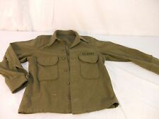 Vtg 1950's Korean War Era 47th  US Army Green Wool Felt Shirt Jacket 601 60178