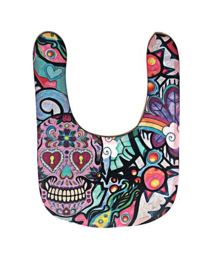 Sugar Skull Baby bib Halloween Dribble Baby Gift goth Rainbow baby set