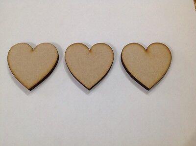 4,6mm HA2 Wooden Love Hearts Shape Embellishment Craft Blank Wedding Decor mdf