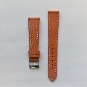 18mm-Honey-Orange-Textured-Calfskin-Leather-Watch-Strap