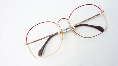 Freundschaftlich Brille Vintage Fassung Leicht Rot Gold Xxl Glasses Oversized Gestell Grösse M