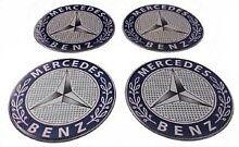 MERCEDES Wheel Center Hub Caps Silicone Badge Emblem Stickers 4x50mm
