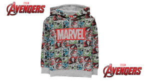 Sweat-a-capuche-Avengers-garcon-de-marque-Marvel-du-2-au-12-ans
