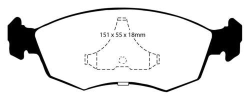 EBC Redstuff Sportbremsbeläge Vorderachse DP3605//2C für Ford Escort 7