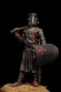 Cavaliere-Templare-Figurino-Dipinto-a-Mano-Scala-54mm