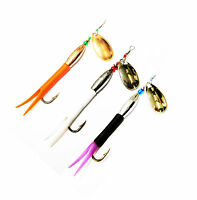 3 Flying C Spinners French Chrome Blades 3 Single Or Treble Hooks Fishing Lures