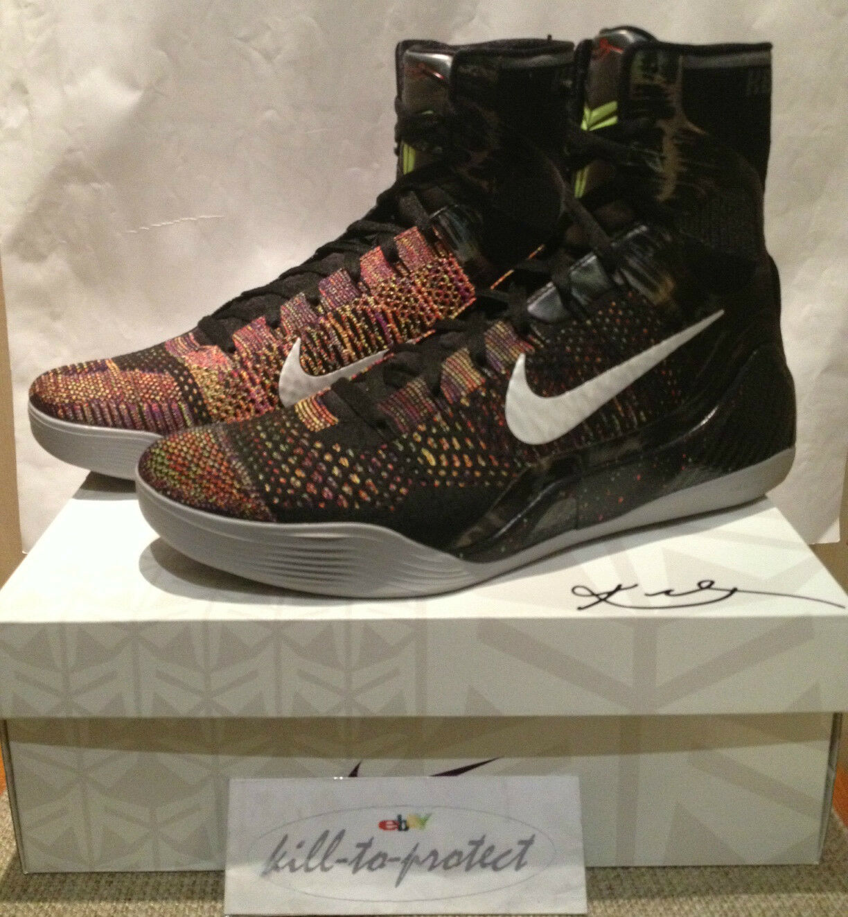 NIKE KOBE 9 IX ELITE MASTERPIECE Sz US10.5 UK9.5 AS 630847-001 MVP PRELUDE 2014