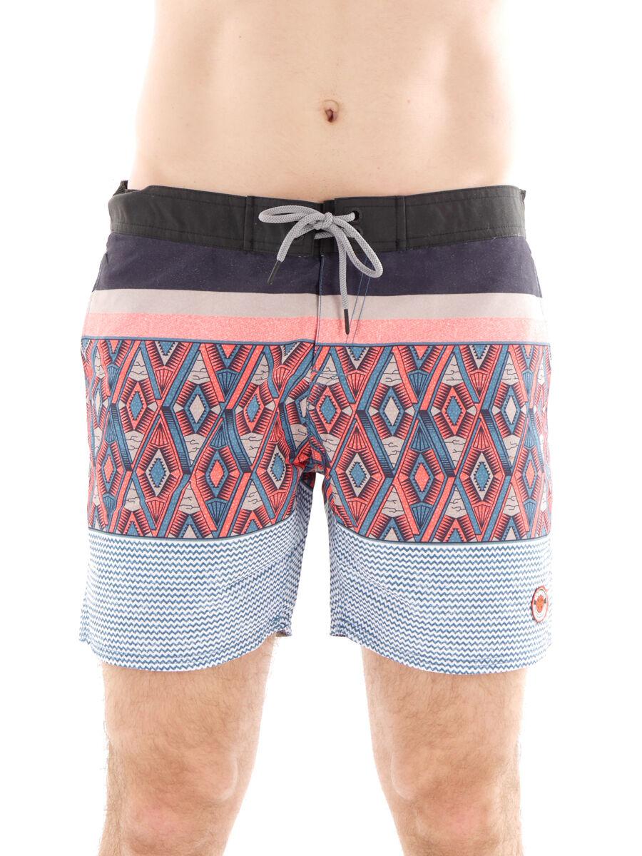 Brunotti Boardshort Pantalones  de Natación Ropa de Jugara Negro Patrón Cecanto  online al mejor precio
