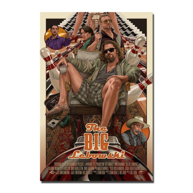 The Big Lebowski Classic Movie Art Silk Poster Prints 12x18 24x36 inches 004