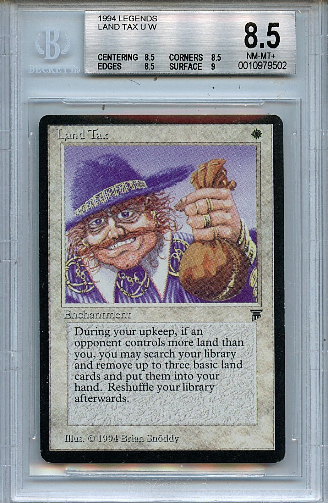 MTG Legends Land Tax BGS 8.5 NM -MT magi the Alling WOTC bild 9502 Amricons
