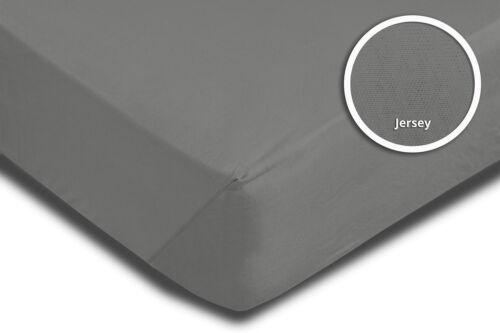 Spannbettlaken Spannbetttuch grau graphit 90 x 200 cm 100 x 200 cm Baumwolle