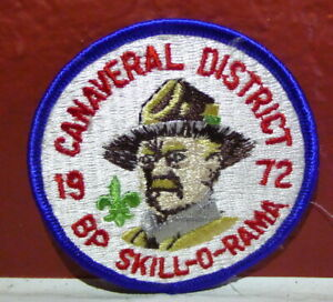 Boy-Scouts-Canaveral-District-Florida-Patch-1972-Baden-Powell-Skill-O-Rama