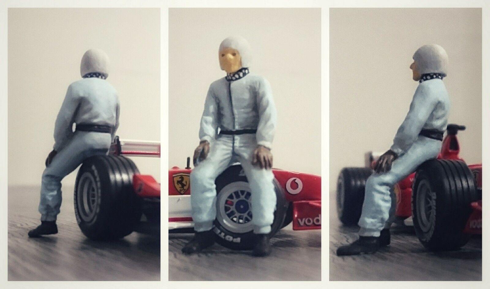 Rudolf CARACCIOLA figurine pilote diorama 1 43 F1 driver figure