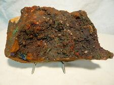 Pièce de 4 minéraux: aiguilles de Brochantite, Azurite, Malachite et Quartz