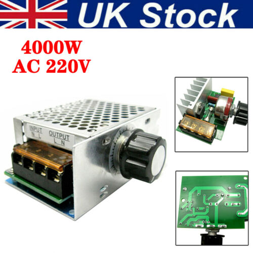 4000w High Power 220v AC SCR Motor Speed Controller Module Voltage Regulator Set