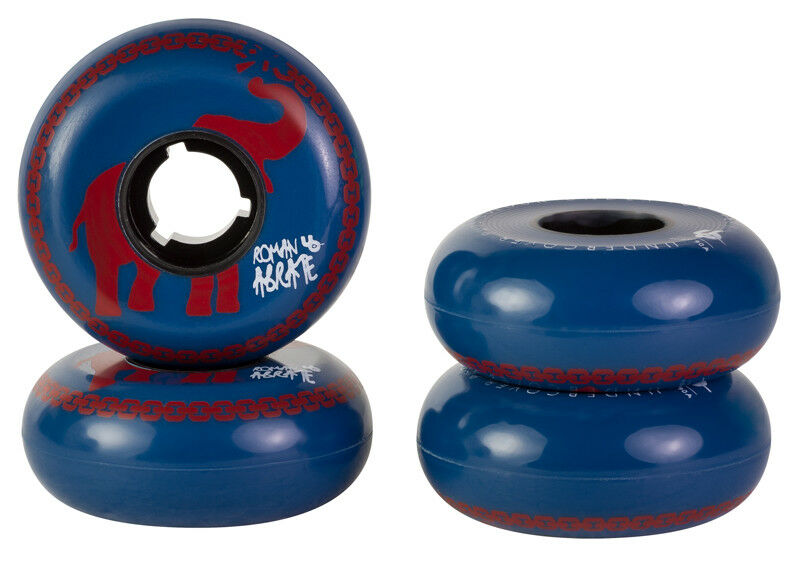 4x Undercover Roman Abrate Circus Pro Wheels 60mm 90A made in USA NEU