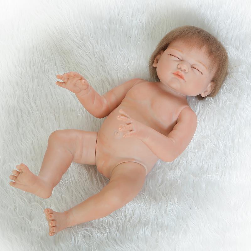 FULL Body Silicone Vinile 20  RINATO Baby Girl Doll likelife neonato giocattoli regalo UK