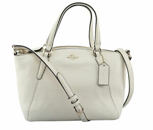 Coach F57563 Mini Kelsey Satchel in Pebble Leather Chalk for sale ... 8522c119dbf18