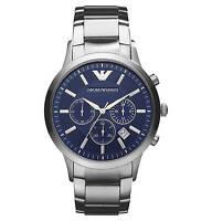 Emporio Armani Ar2448 Mens Steel Chronograph Watch - 2 Years Warranty