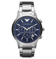 Emporio Armani Ar2448 Mens Steel Chronograph Watch - 2 Years Warranty