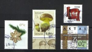 LITHUANIA SMALL COLLECTION 2015 - 2019 4 DIFFERENT FINE USED