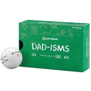 Geschenk-Fuer-Dad-TaylorMade-Projekt-A-Vater-Organismen-Logo-wuerde-Golfbaelle-6-Baelle