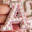 miniature 10 - Pearl Letter Patches Rhinestone Sparkle Alphabet Embroidery Sew on Iron on A-Z