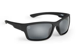Fox Avius Wraps - Matt Black Frame - Grey Lens / Polarised Sunglasses