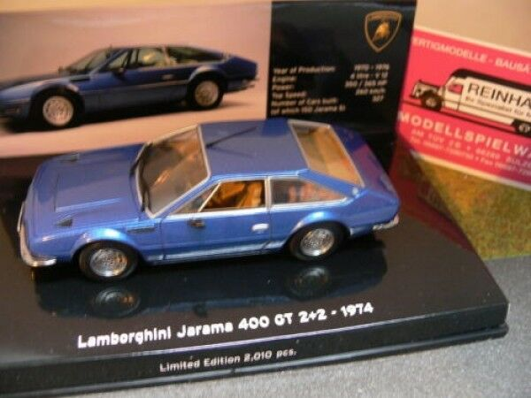 1 43 Minichamps Lamborghini Jarama 400 GT GT GT 2+2 1974 blue 1d510e