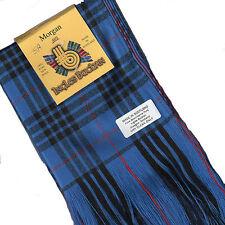 Tartan Sash Clan Morgan Modern MacKay Blue Ladies Scottish Plaid