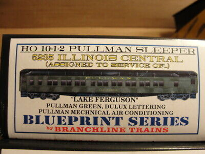 Branchline HO Illinois Central Lake Peigneu 10-1-2 Pullman Sleeper Car Kit 5234