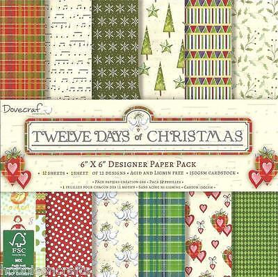 Dovecraft zwölf Tage von Weihnachten 6 X 6 Sample Pack 1 jeder