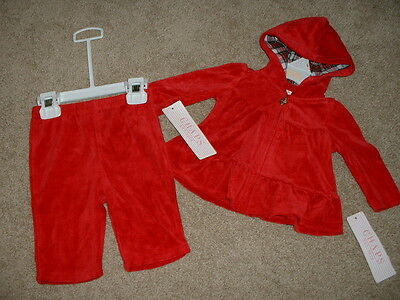 Baby Girl Chaps Red Velour Holiday Christmas Outfit Set Size 3 Months 3M NWT NEW