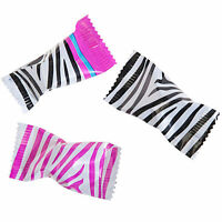 200 Zebra Print Pink-black-white Individually Wrapped Buttermints