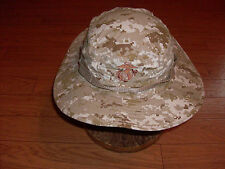 U.S MILITARY STYLE MARINE CORPS U.S.M.C DESERT CAMO BOONIE HAT SIZE LARGE 7 1/2
