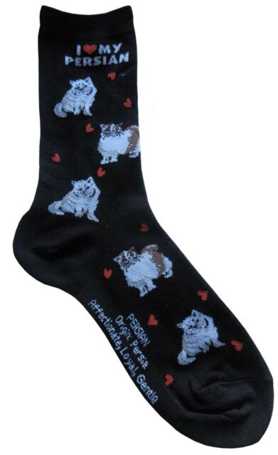 I Love My Persian (631402) Women Socks Cat Cotton New Gift Fun Unique Fashion