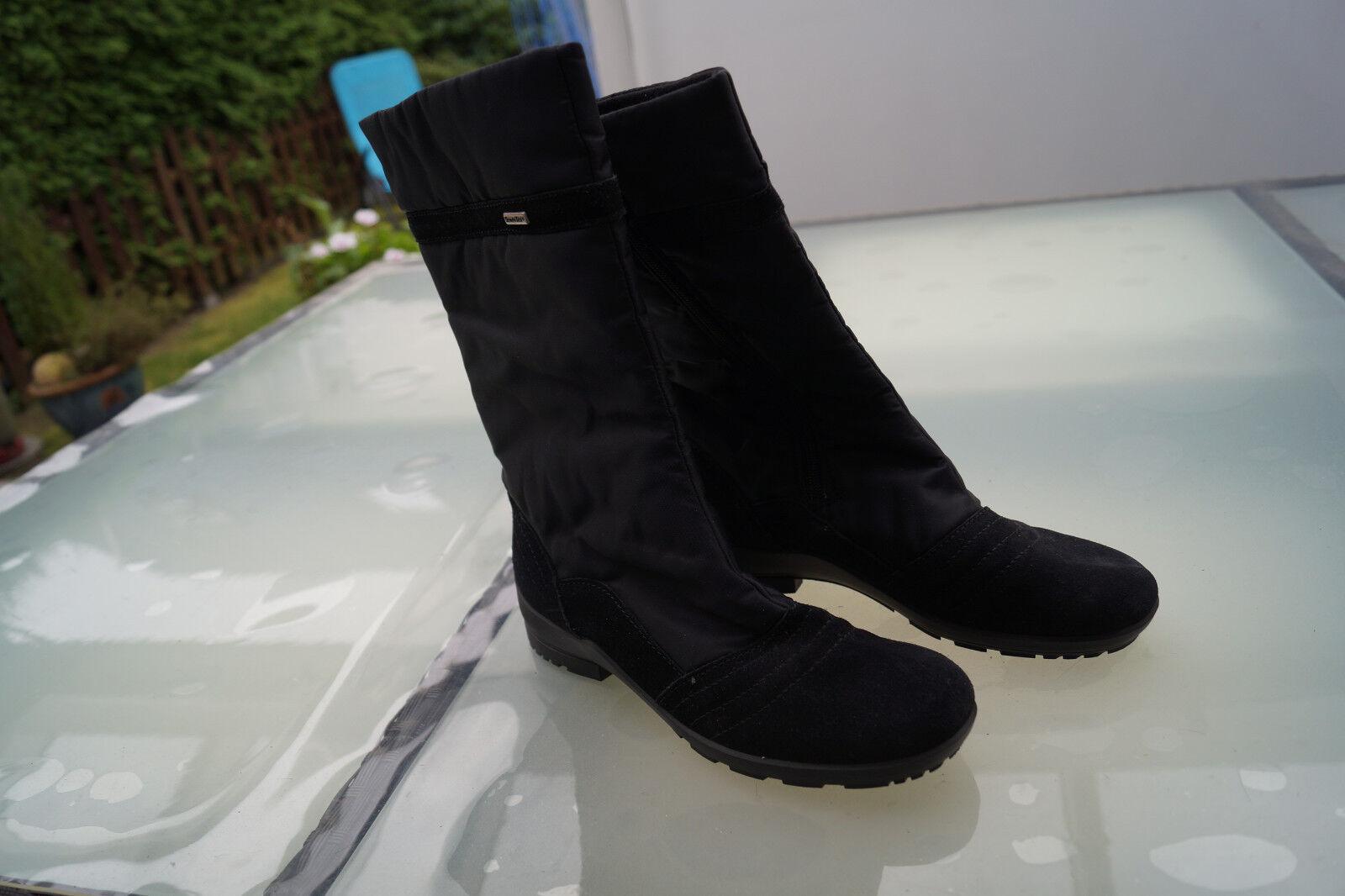 Rohde SympaTex señora invierno zapatos acolchada botas negro, como nuevo k