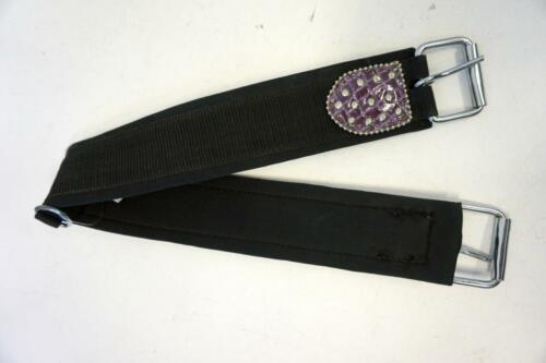 """31/"""" Nylon Western Girth web lining Black Purple accent Closeout Clearance!!"""