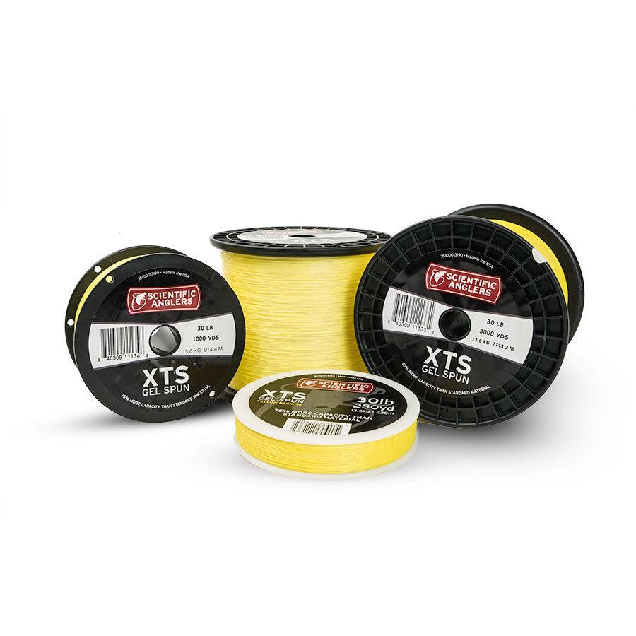 Nuevo Gel Scientific Anglers Xts hilado respaldo amarillo 30LB 500YD pesca con mosca mejor