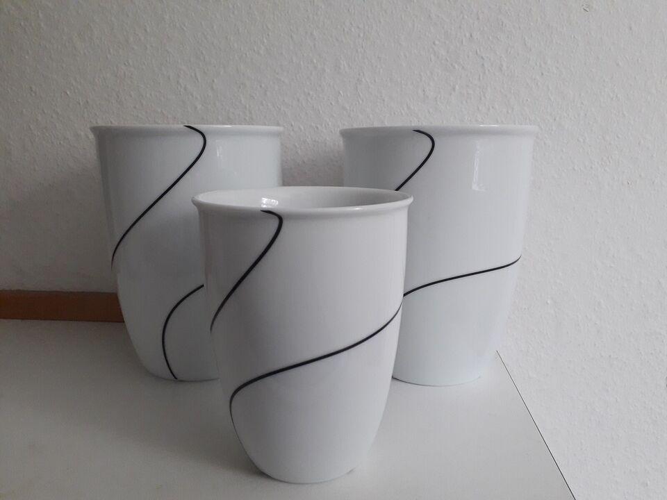 Porcelæn, Krukker, Menu Sort Kontur