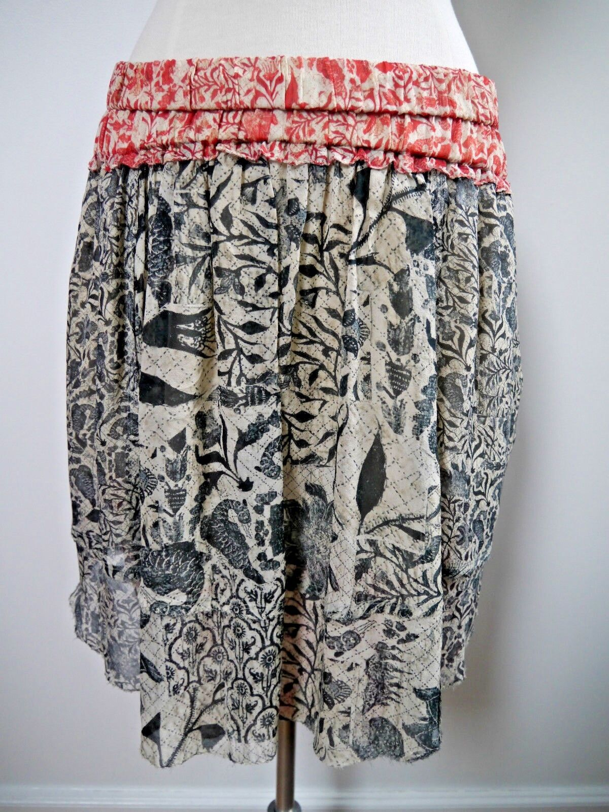 NEW ISABEL MARANT  725 botanical print silk skirt size 40 NWT