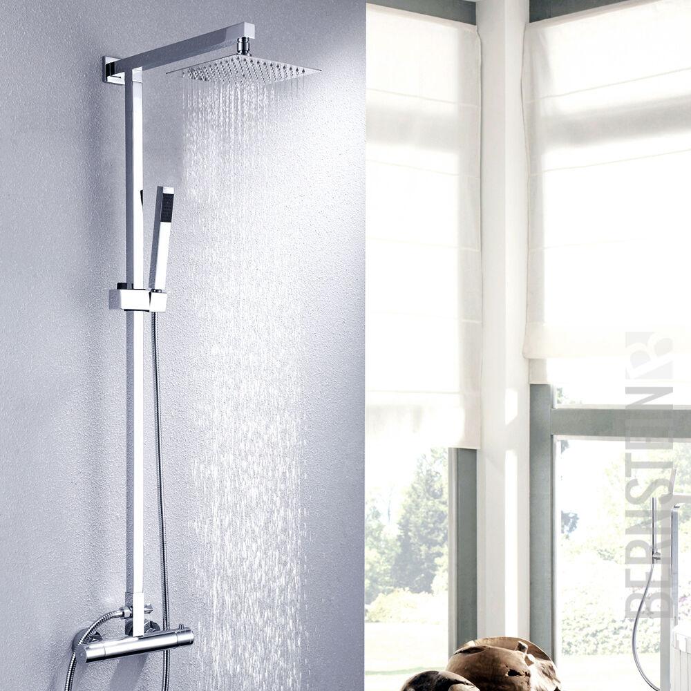 Duschset Regendusche Brause Set Duschsäule Duscharmatur Thermostat NEU | Neuer Eintrag  | ein guter Ruf in der Welt  | Exquisite (in) Verarbeitung  | Moderater Preis
