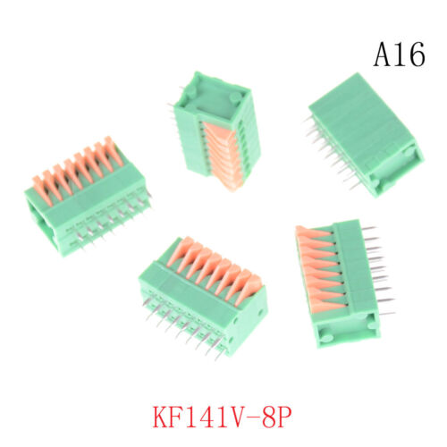 5PCS KF141R KF141V 2.54mm Pitch PCB Connectors Spring Screless Terminal Block YE