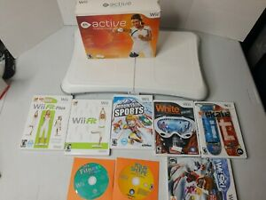 NINTENDO WII FIT PLUS BALANCE BOARD With 9 Balance GAMES TESTED WORKING RVL-021