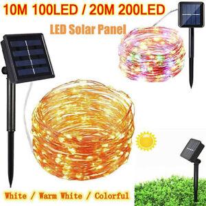 200LED-Solar-String-Lights-Waterproof-10-20M-Copper-Wire-Fairy-Outdoor-Garden