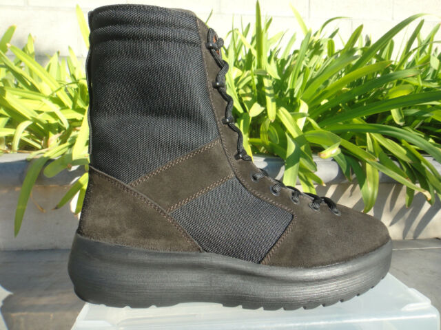 c4991a805fd YEEZY SEASON 3 MILITARY BOOT Onyx Shade, Black Nylon/Dk Brown Suede SIZE  US11