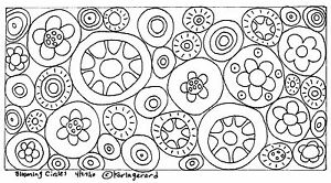 RUG-HOOK-CRAFT-PAPER-PATTERN-Blooming-Circles-FOLK-ART-PRIMITIVE-Karla-Gerard