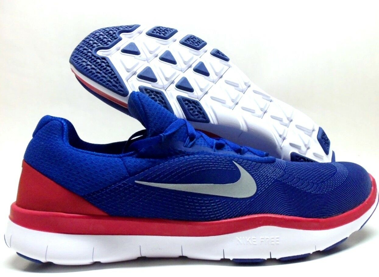 Nike libera, allenatore di v7 nfl ny rush blu / rosso chrome-gym sz uomini 15 - aa1948-406]