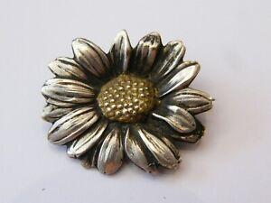 100% QualitäT Brosche Silber Vergoldet Margerite Mellerio Meller Peace Silver Silber Preisnachlass